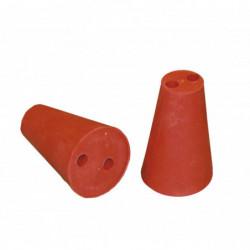 Gummistopfen rot 35/60 mm +...