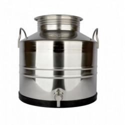 récipient inox 30 l + robinet