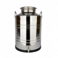 récipient inox 50 l + robinet