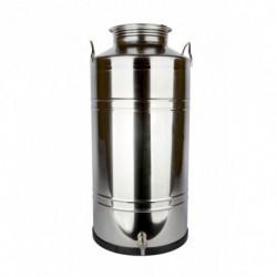 récipient inox 100 l + robinet