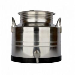 récipient inox 15 l + robinet