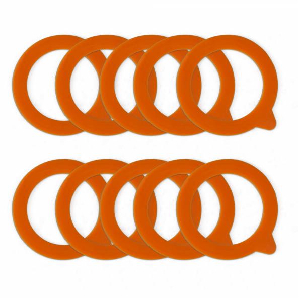Silicone inmaakringen voor bokalen - 90 x 65 mm - 10 st.
