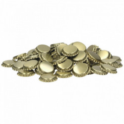 Bouchons couronne 26 mm or...