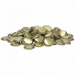Crown corks 26 mm gold 100 pcs