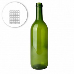Wine bottle bordeaux 75 cl,...