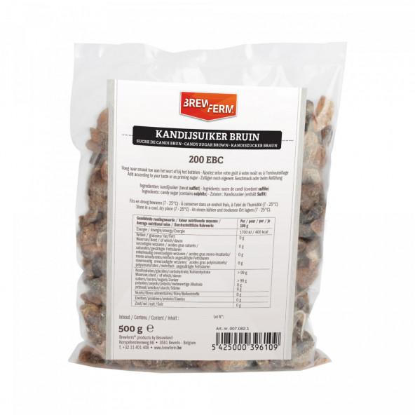 kandijsuiker bruin brokken 500 g