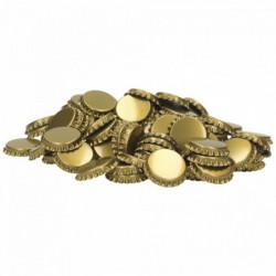 Kronenkorken 29 mm gold -...