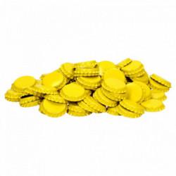 Kroonkurken 26 mm geel 100 st.