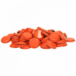 Kroonkurken 26 mm oranje...
