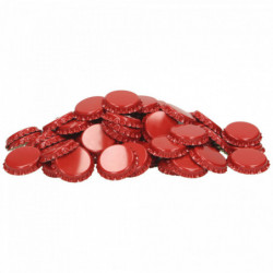 Kroonkurken 26 mm rood 100 st.
