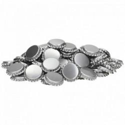 Kroonkurken 26 mm zilver...