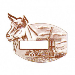 cheese labels goat 80x55mm...