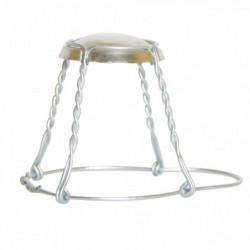 Champagne cage + cap silver...