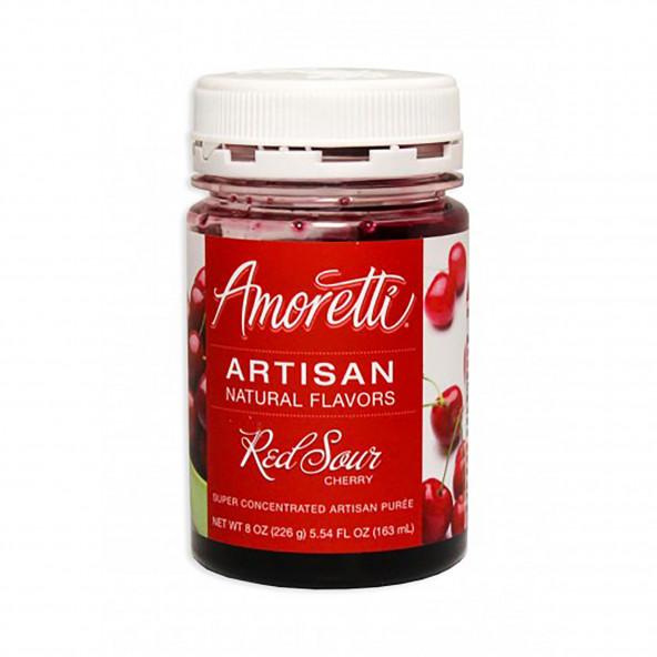 Amoretti - Artisan Natural Flavors - Rode zure kers 226 g NL-FR-DE-EN