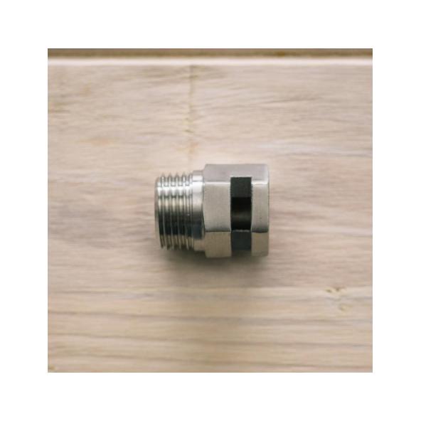 Ss Brewtech whirlpool-koppeling 1/2 MPT met één doorvoer