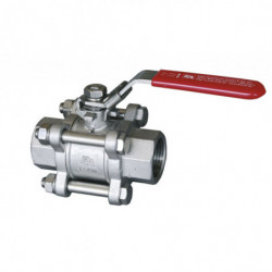 ball valve 3-piece SS 4/4...