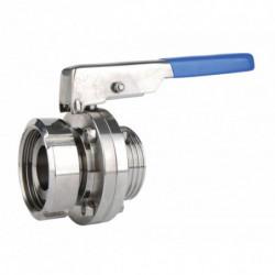 butterfly valve DIN-40 male...