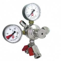 CO2-regulator 3 bar with 2...