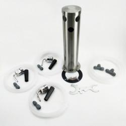 Triple beer tap tower -...