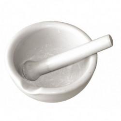 porcelain mortar + pounder...