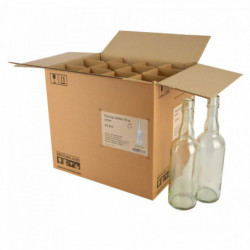 Beugelfles 75 cl, wit,...