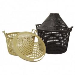 plastic basket + lid 34 l