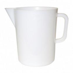 broc gradué plastic blanc 5 l