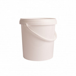 Bucket white 6 l with lid
