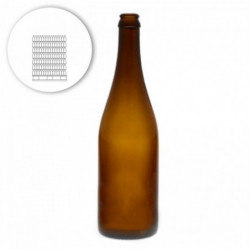 Bierflasche Belge, gerader...