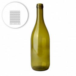 Wine bottle burgundy 75 cl,...